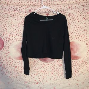 wild fable sz l cropped long sleeve
